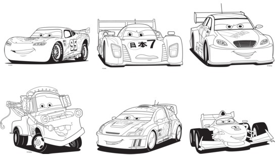 Cars - Cars 2 coloriage ...