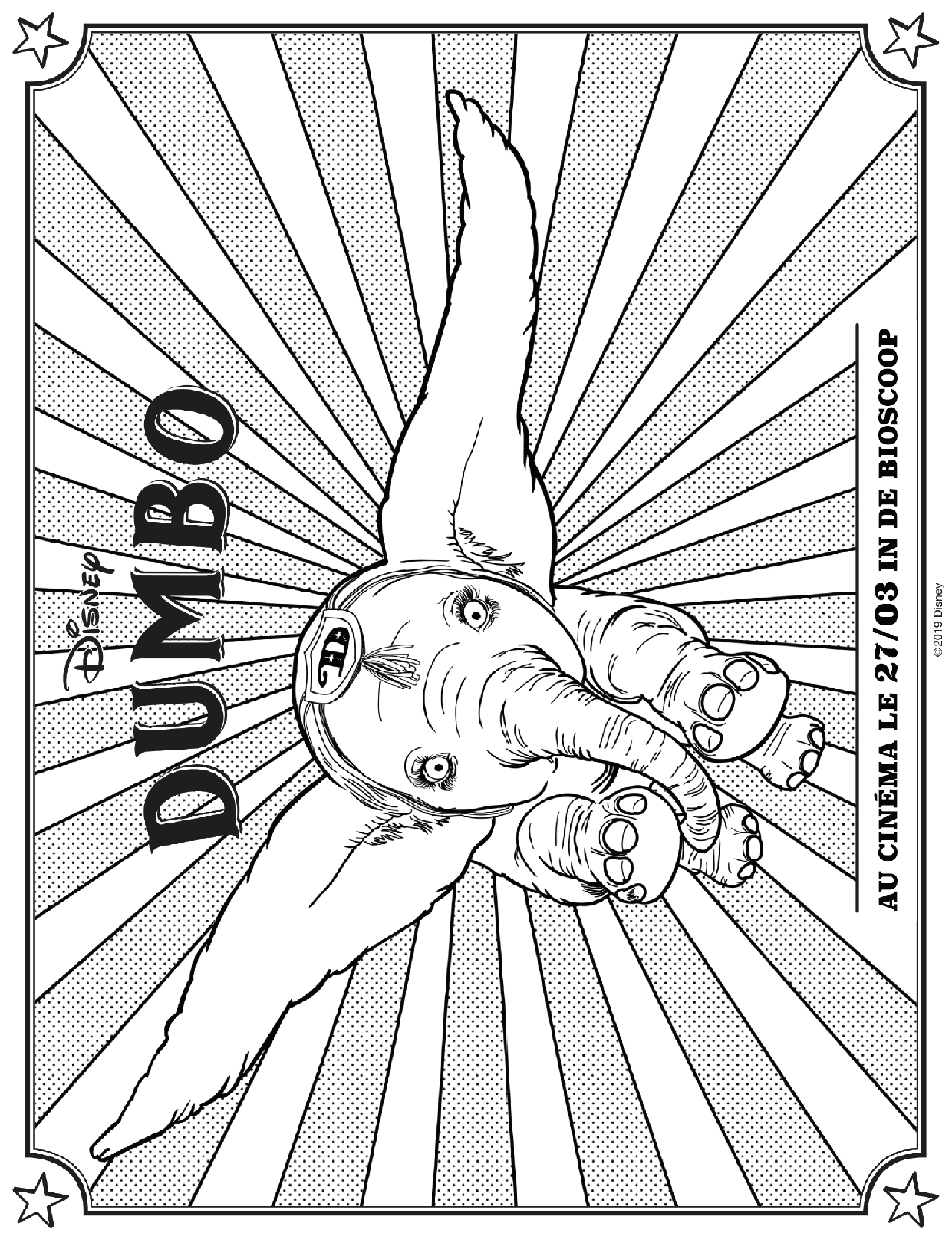 Coloriage Dumbo 1 Petitweblu